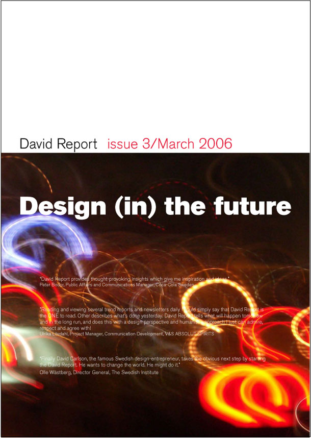 Trend report called Design (in) the future