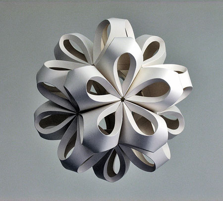 Paper art by richard sweeney david report for Craft work with paper folding