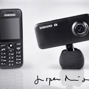 Mobile phone by Jasper Morrison for Samsung