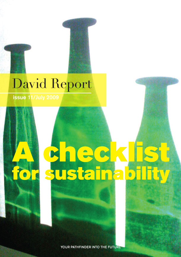 The trend report called - A checklist for Sustainability