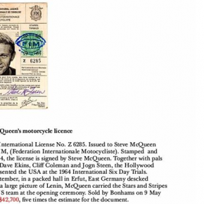 Einstein's watch and Steve McQeen's driving license