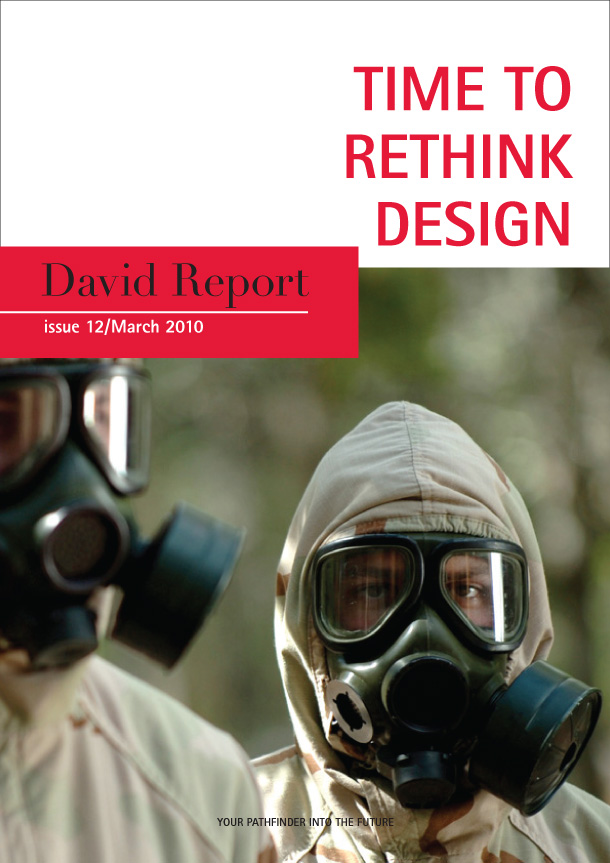 Front page of the trend report Time to Rethink Design