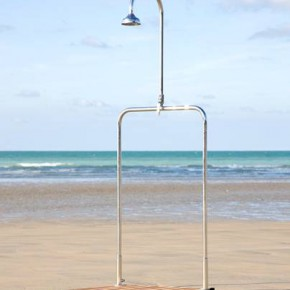 Outdoor shower by Inga Sempe