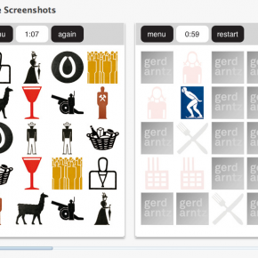 Gerd Arntz memory app