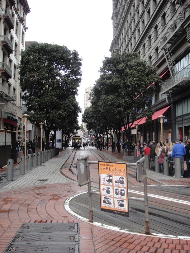 Cable Car turnaround in Market Street
