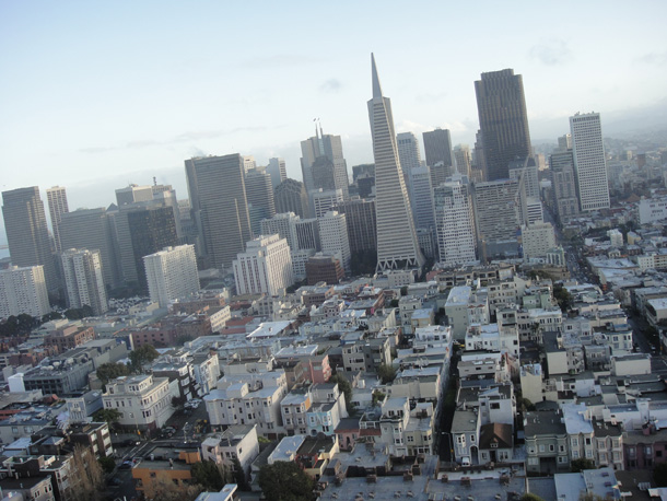 Skyline from COIT Tower, top of Telegraph Hill