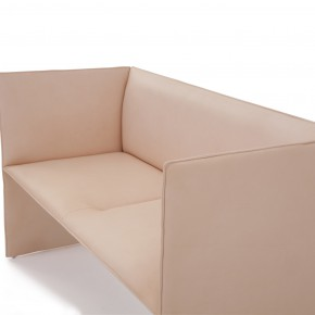 A sofa with a slender and strict language