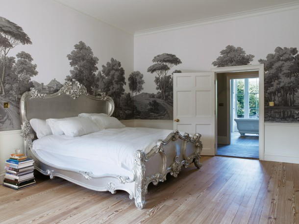 The master bedroom designed by Ilse Crawford
