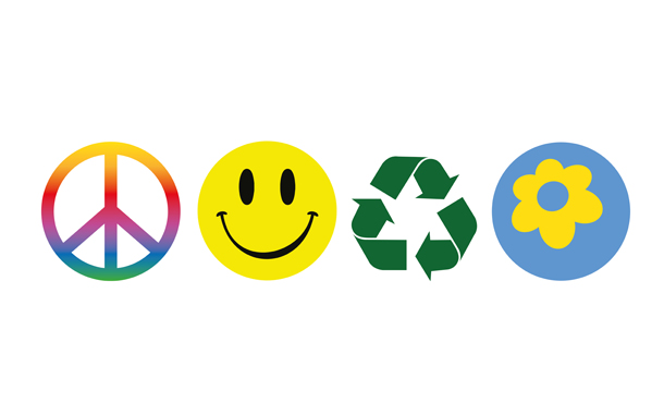 Some different happy energy logos for a sustainable future