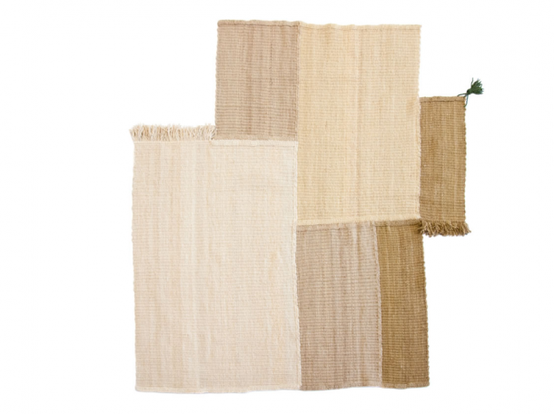A wool rug designed by n Boaz Cohen and Sayaka Yamamoto