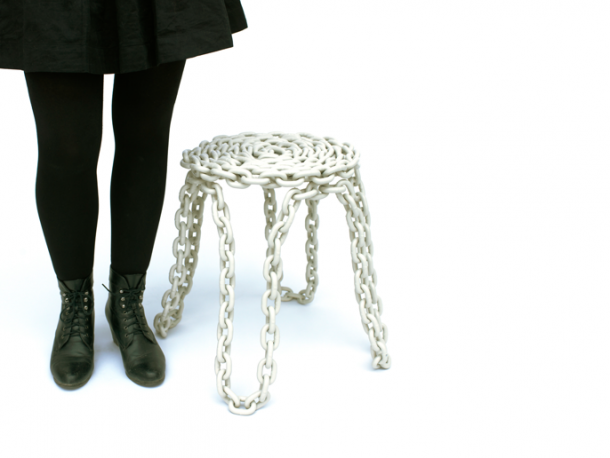 A stool made of chains from fifty fifty projects