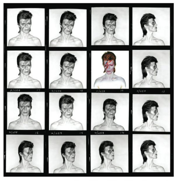 Images of David Bowie by Duffy for the Aladdin Sane cover