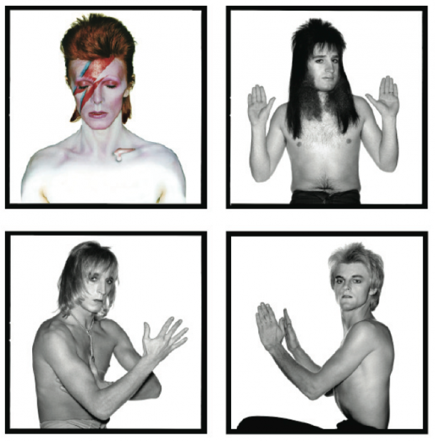 David Bowie and the spiders from Mars by Brian Duffy