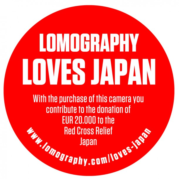 red sticker saying lomography loves japan