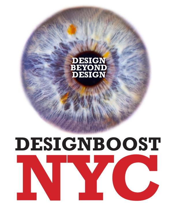 Logotype for the event DesignBoost New York city with theme Design Beyond Design