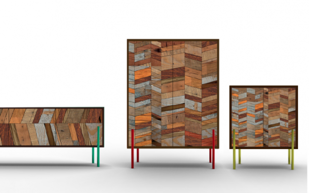 Wooden furniture made of rosewood and reclaimed teak