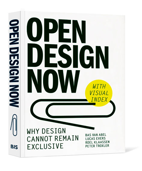 The cover of the book Open Design Now
