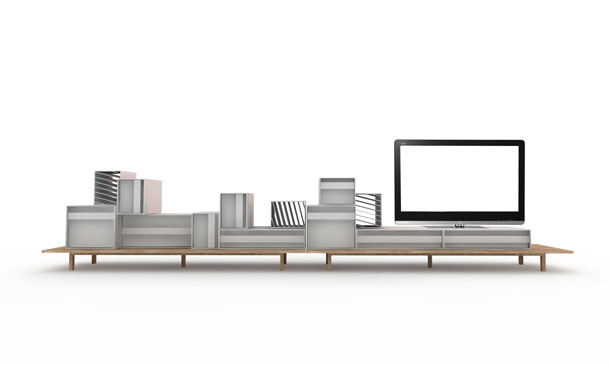 Sideboard by Alain Gilles from the front