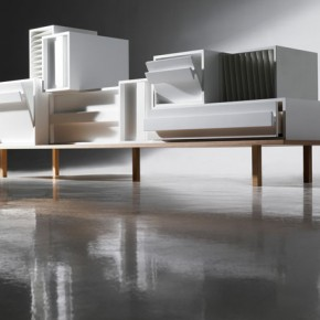 Container modular sideboard by Alain Gilles