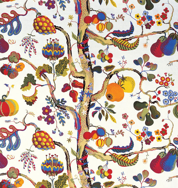 A textile design by Josef Frank from Svenskt Tenn