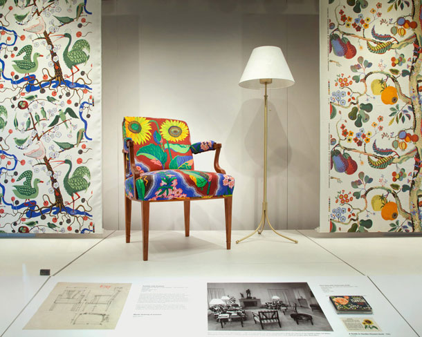 A selection of textile and furniture design by Josef Frank