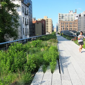 New north part of the Highline in New York city
