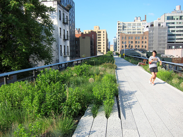 The north part of the Highline in New York city