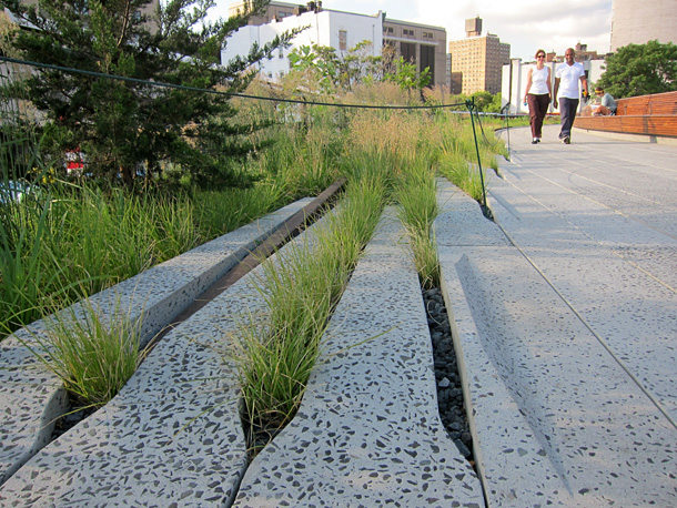 Highline in New York turned into public park