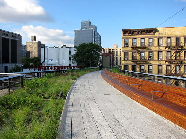 The north park of the Highline in New York City