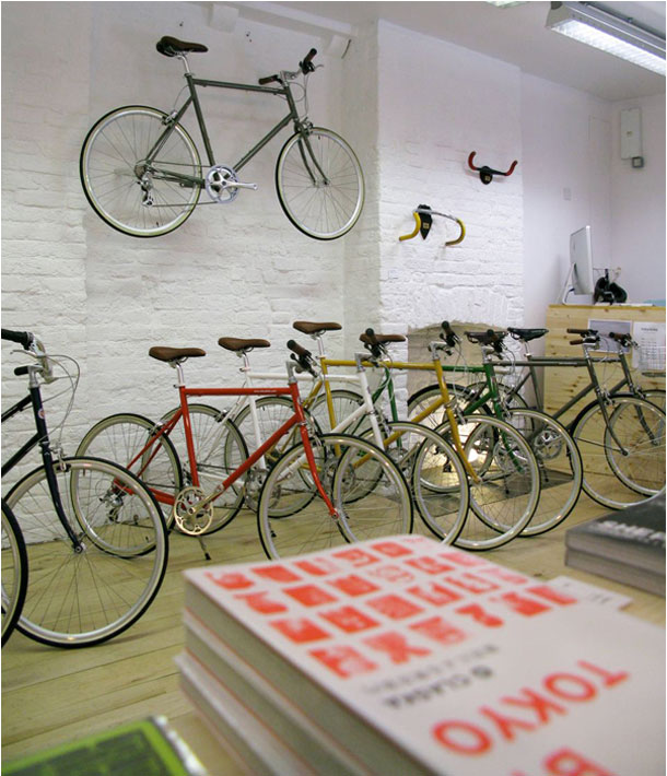 bicycles in the tokyobike shop