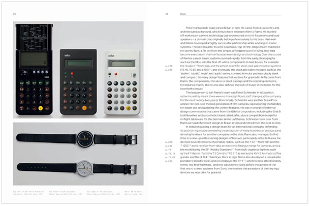 A spread from the book about Dieter Rams
