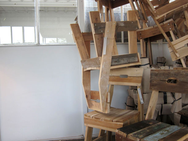 Chair in a stack by Piet Hein Eek