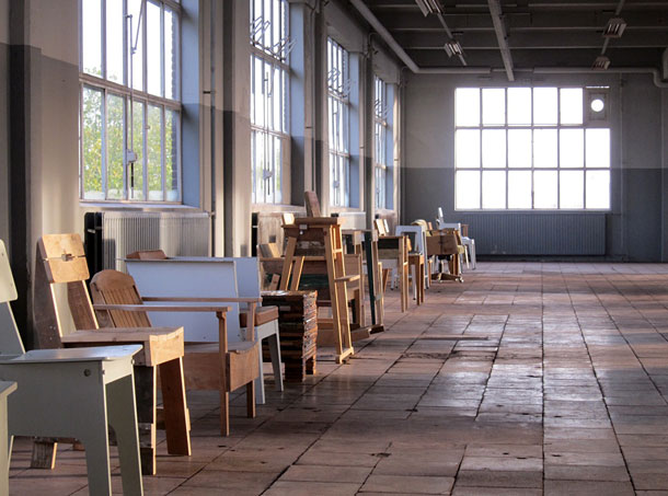 Piet Hein Eek chairs in a row