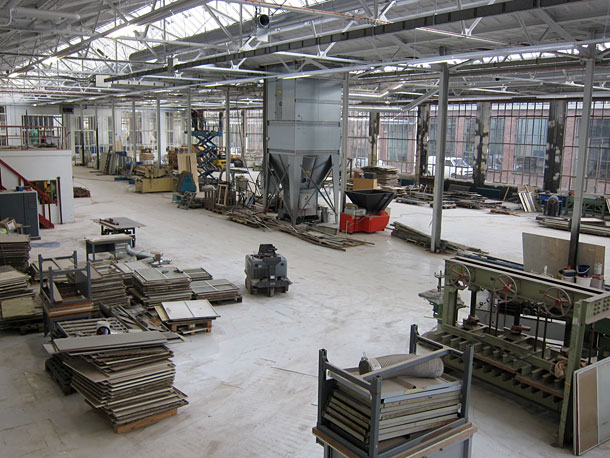 The production space at Piet Hein Eek