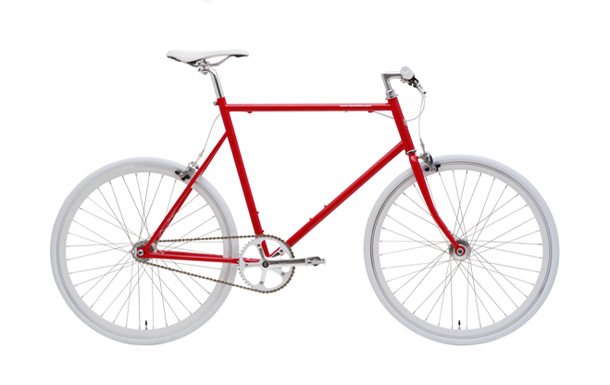 a red tokyobike bicycle