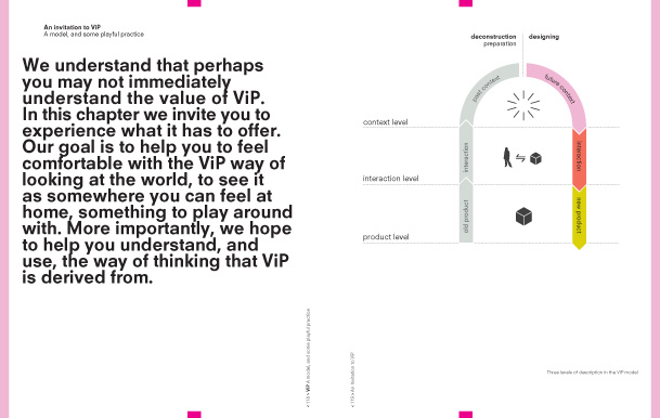 A spread from the book VIP - vision in design