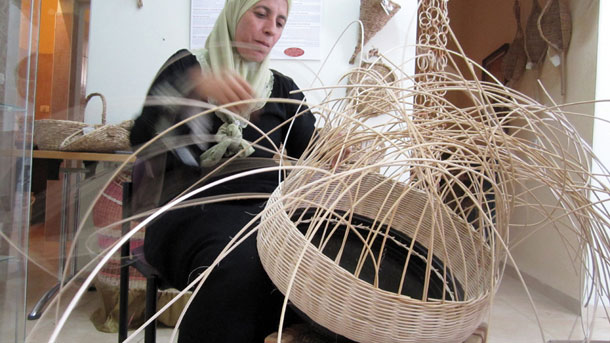 Handweaved basket