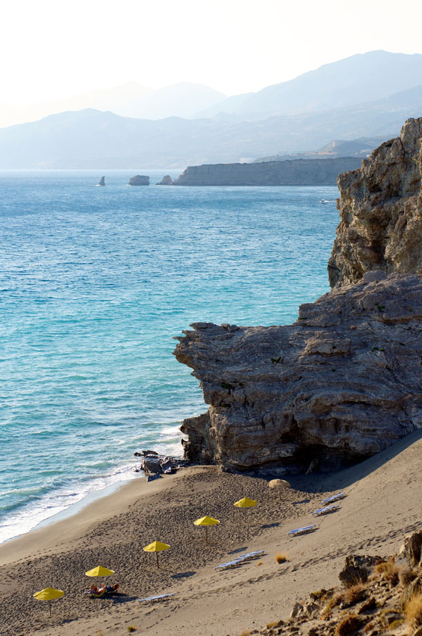 the beach at agios pavlos at crete