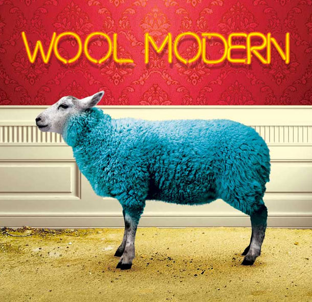 Poster for the exhibition Wool Modern