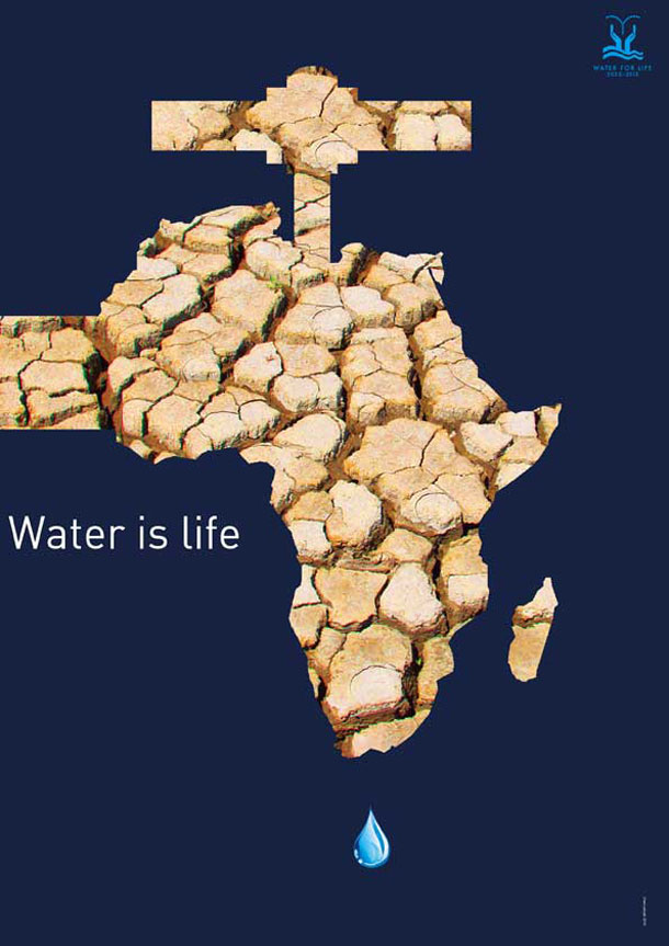 Poster from the water is life competition