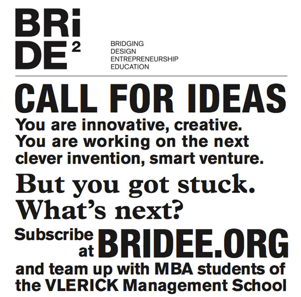 Poster for Bridee - call for ideas