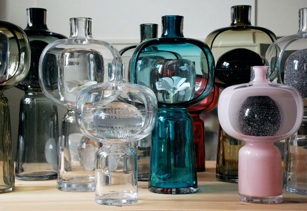 Examples of glass design by Matti Klenell