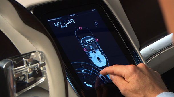 Touch screen in volvo luxury concept car