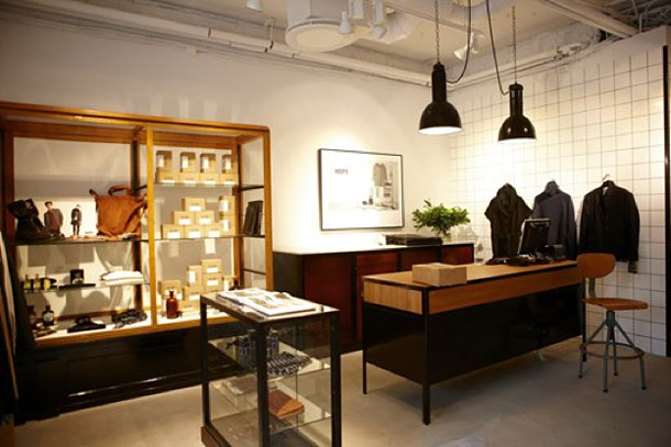 Interior of the new Hope flagship store in Stockholm