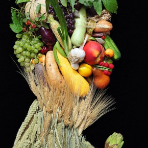 Klaus Enrique Gerdes&#039; recreation of the work by the artist Arcimboldo