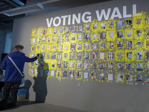 Voting wall at Design Academy Eindhoven