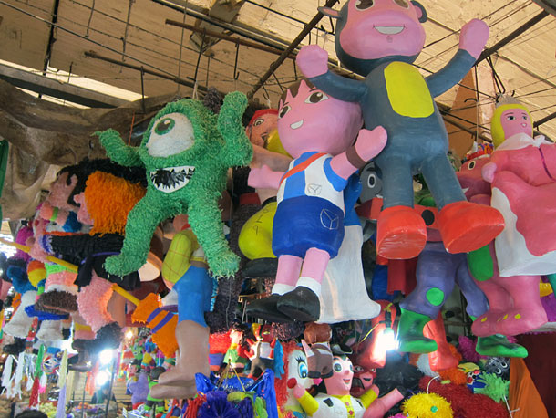 Pinata at a market in Mexico City