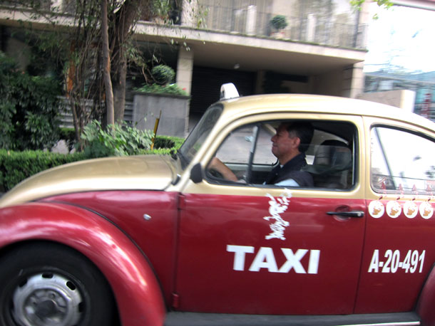 A Beetle cab in Mexico City