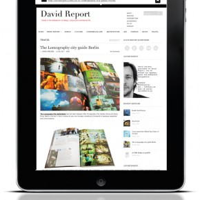 David Report part of the MINI International iPad app