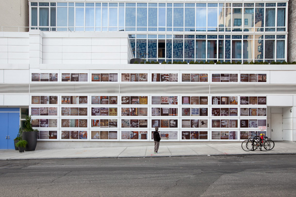 Photography by Sol LeWitt on the walls of Mondrian SOHO
